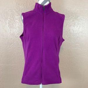 Lands' End Purple Fleece Zip Vest